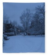 Winter Blue Britain Fleece Blanket