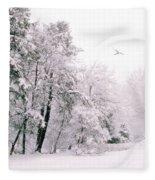 Winter White Fleece Blanket
