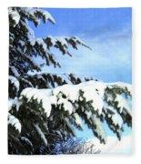 Winter Boughs Fleece Blanket