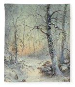 Winter Breakfast Fleece Blanket