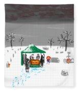 Winter Burial Fleece Blanket