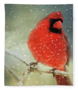 Winter Card Fleece Blanket