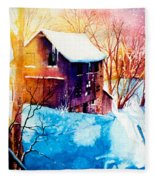 Winter Color Fleece Blanket