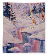 Winter Creek Fleece Blanket