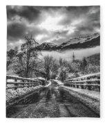 Winter Crossing Fleece Blanket