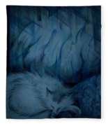 Winter Day Napping Fleece Blanket