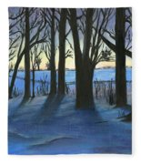 Winter Day's End Fleece Blanket