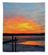 Winter Docks Fleece Blanket