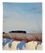 Winter Dunes Fleece Blanket