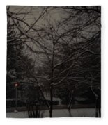 Winter Dusk Fleece Blanket