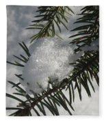 Winter Evergreen Fleece Blanket