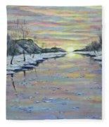 Winter Expression Sunrise Fleece Blanket