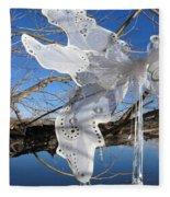 Winter Fairy Wings Fleece Blanket