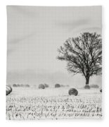 Winter Field Fleece Blanket