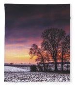Winter Fields Fleece Blanket