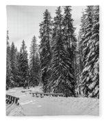 Winter Forest Journey Fleece Blanket