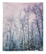 Winter Forest Fleece Blanket by Priska Wettstein