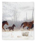 Winter Gallop Fleece Blanket