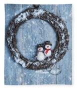 Winter Garland Fleece Blanket