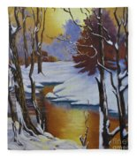 Winter Gold Fleece Blanket