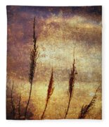 Winter Gold Fleece Blanket