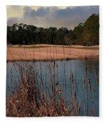 Winter Golfing Fleece Blanket