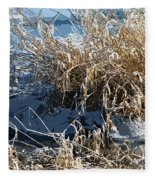 Winter Grass Fleece Blanket