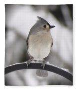 Winter Gray - Bird Fleece Blanket
