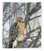 Winter Hawk Fleece Blanket