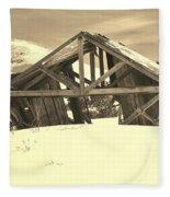 Winter History 2 Fleece Blanket