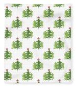 Winter Holiday Trees 2- Art By Linda Woods Fleece Blanket