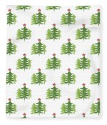 Winter Holiday Trees 2- Art By Linda Woods Fleece Blanket