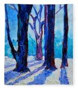 Winter Impression Fleece Blanket