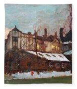 Winter In Buffalo Fleece Blanket