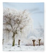 Winter In Holland Fleece Blanket