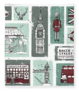 Winter In London Fleece Blanket