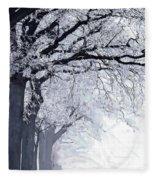 Winter In Our Street Fleece Blanket