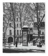 Winter In Paris Fleece Blanket