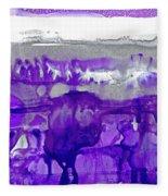 Winter In Purple And Silver Fleece Blanket