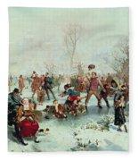 Winter In Saint James's Park Fleece Blanket