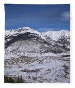 Winter In Silverton Colorado Fleece Blanket
