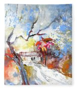 Winter In Spain Fleece Blanket
