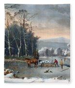 Winter In The Country Fleece Blanket