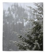 Winter In The Forest Fleece Blanket