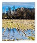 Winter In Washington Fields Fleece Blanket