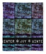 Winter Joy Fleece Blanket