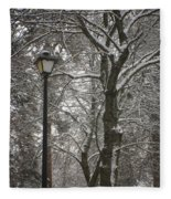 Winter Lamp Post Fleece Blanket