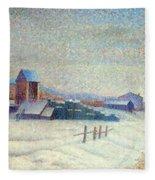 Winter Landscape 1885 Fleece Blanket