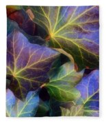 Winter Leaves Fleece Blanket