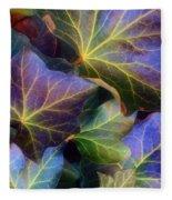 Winter Leaves Fleece Blanket